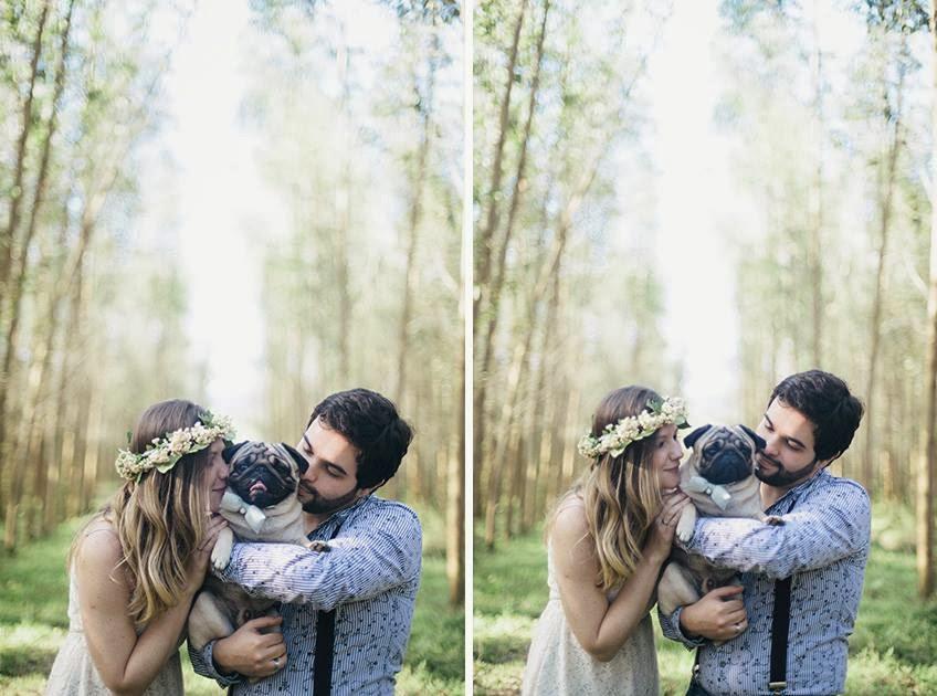 e-session - ensaio noivos - ensaio casal - ensaio ao ar livre - e-session ao ar livre - caozinho - cachorrinho - cachorro na e-session - cachorro no ensaio - noivos e cachorro - coroa de flores