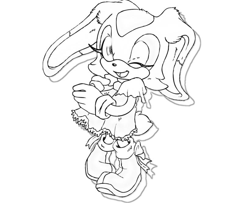 charmy bee coloring pages | Sonic Generations Cream The Rabbit Cartoon | Surfing