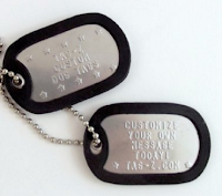 photo of regular military dog tags. You can use one for your cat or dog!