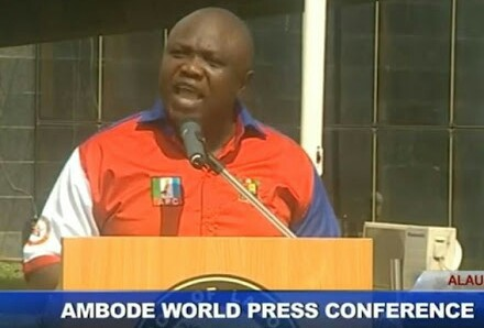 Ambode's World Press Conference: The Core Text