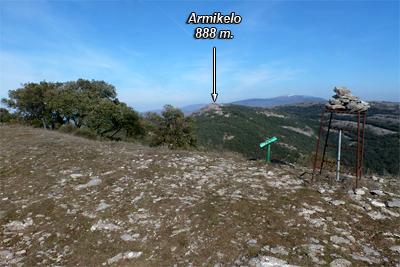 Armikelo visto desde la cima de Unda