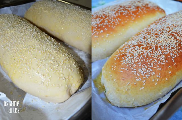 Pão Recheado com Frango e Queijo