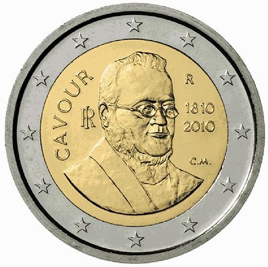 2 euro Italy 2010, Camillo Benso