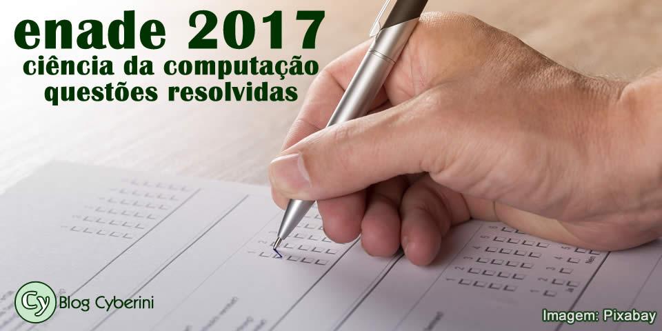 ENADE 2017 de Ciência da Computação