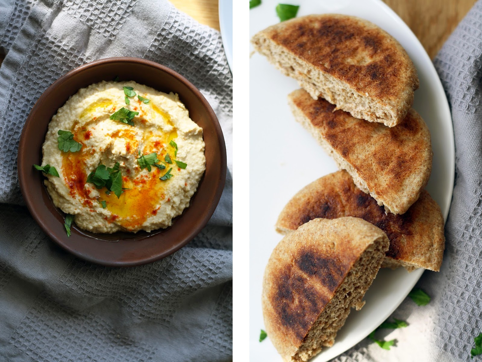 Simple (+ Quick) Hummus and Pita | Sevengrams