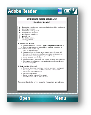 Adobe reader (PDF Reader) 240x400 touchscreen java Apps Download for