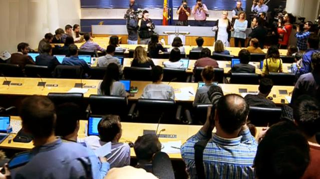 Pablo Iglesias deja colgados a periodistas