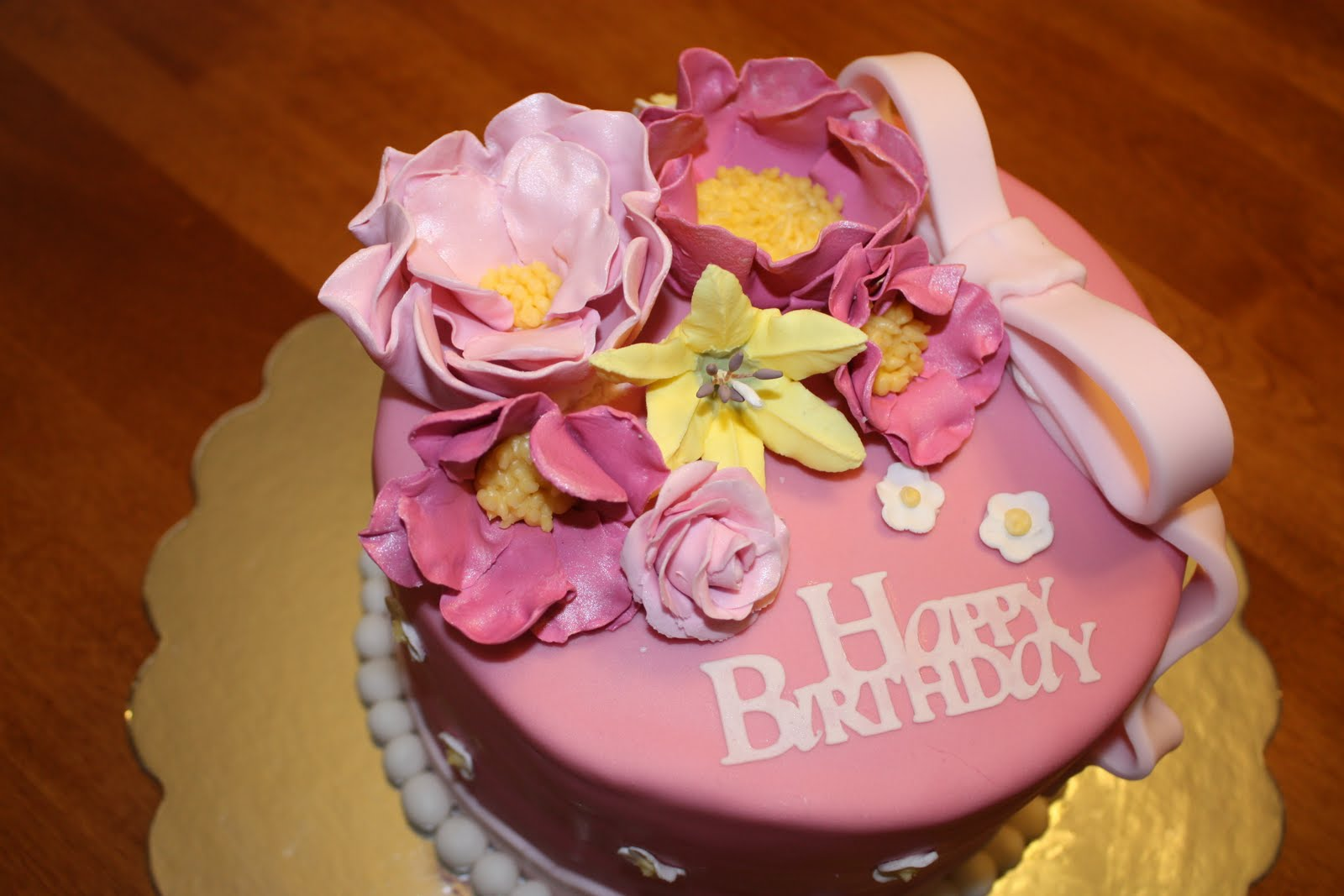 Happy Birthday Cake And Flower For The Special Person