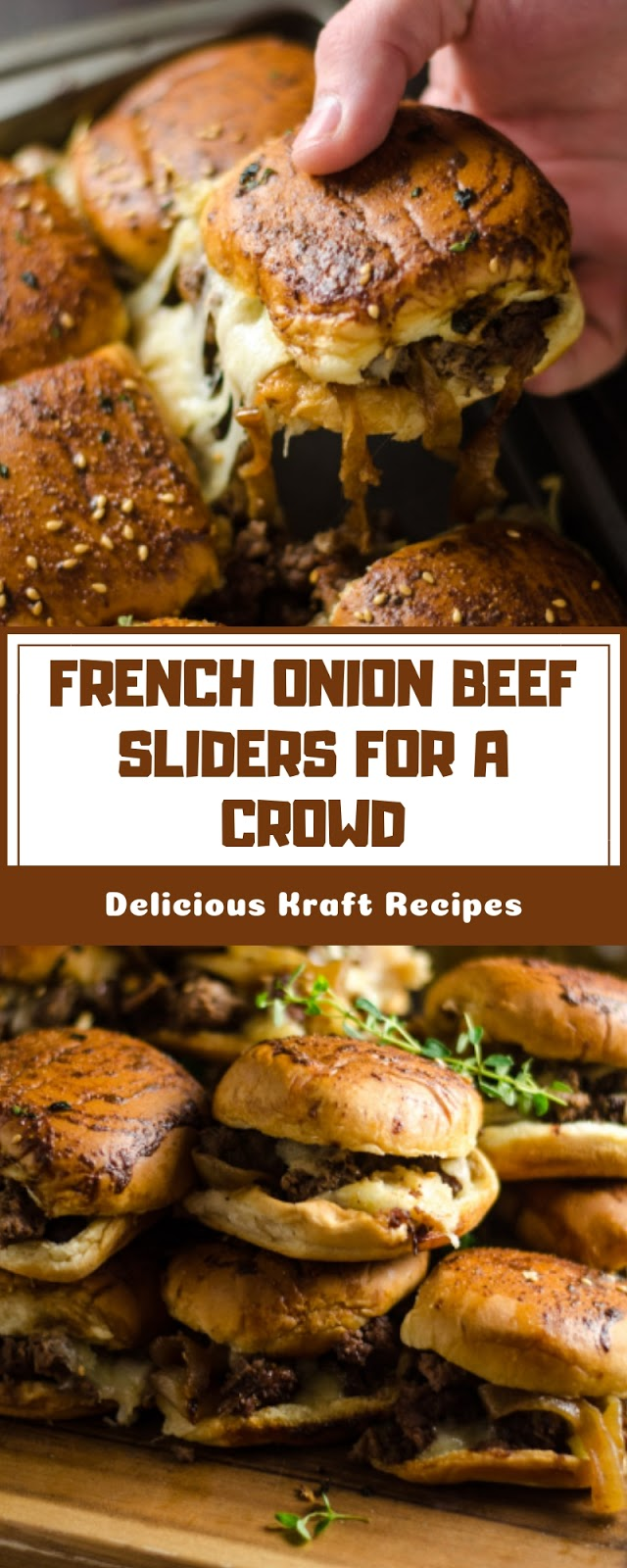 FRENCH ONION BEEF SLIDERS FOR A CROWD