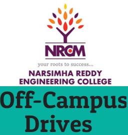 Narsimha Reddy Engineering College Off Campus Drive 2019 Registration