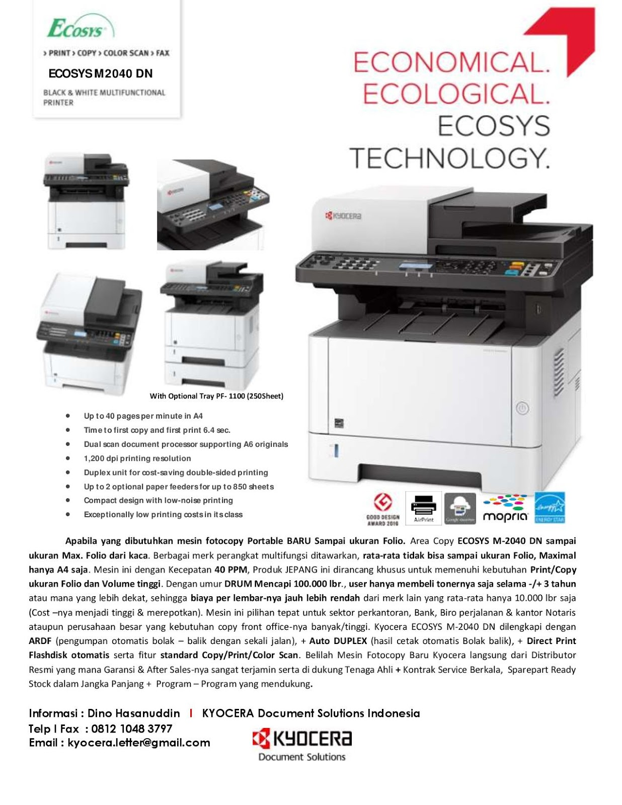 Kyocera ECOSYS FS-4100DN Printer PCL5e/PCL6/KPDL Drivers for Mac