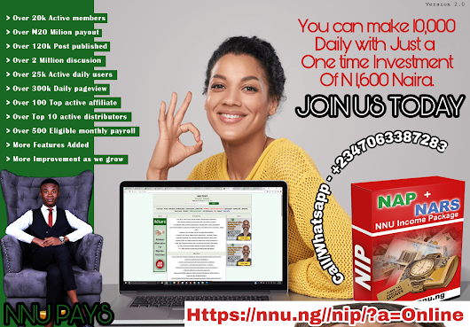 MUST READ: How To Make N100k plus On NNU.NG Income Programme