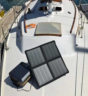 solar generator on a boat