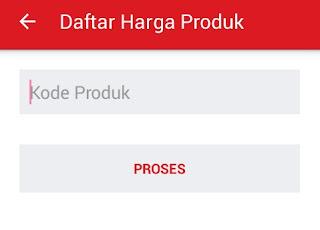 halaman transaksi menuju harga produk