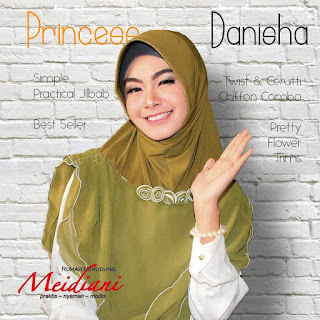 Jilbab Pesta Princess Danisha