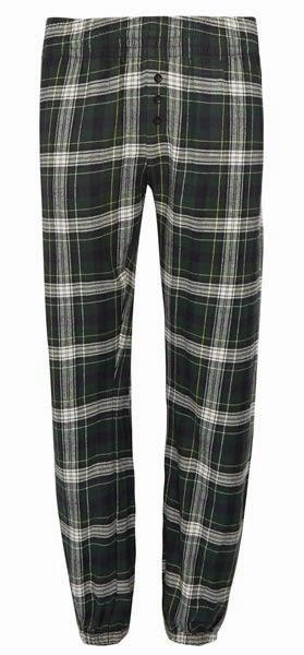 Primark online: pantalones pijama a cuadros en oscuro