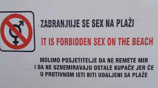 no sex on beach Can't Get Any Ideas Dubrovnik Croatia sign