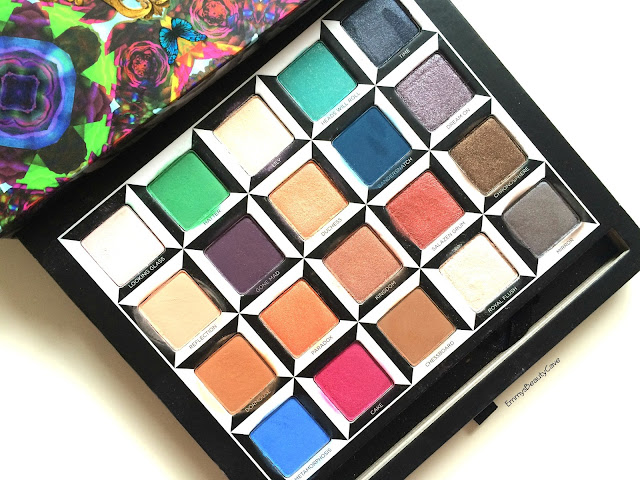 Urban Decay Alice in Wonderland Palette shades