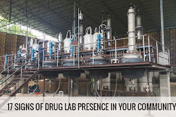 17 Signs to watch out if your neighborhood owns Shabu Lab or Illegal Drugs Facilities