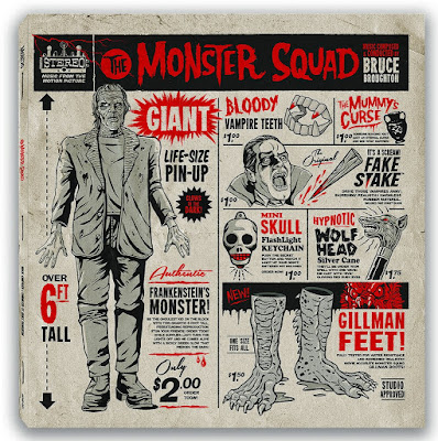 MondoCon 2016 Exclusive The Monster Squad Original Motion Picture Soundtrack Vinyl Record Cover Artwork by Gary Pullin x Mondo