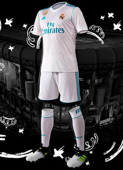 Real Madrid primera equipación 2017-2018 camiseta pantalones medias
