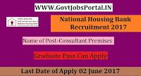 National Housing Bank Recruitment 2017– Consultant Premises