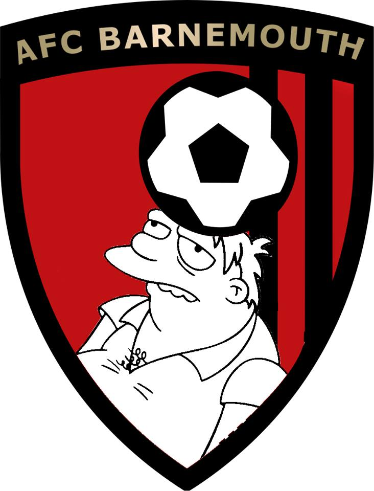 The Simpsons' version logo of Bournemouth