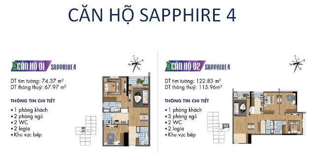 Căn hộ số 01, 02 tòa Sapphire 4- Goldmark City