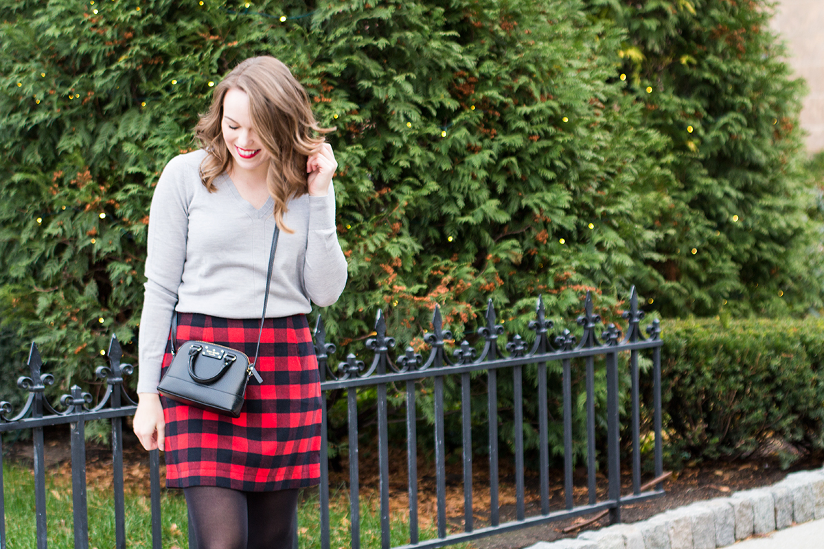 Holiday Red Plaid Skirt Tay Meets World