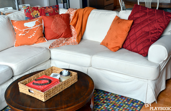 The best thing about a white couch is that it goes with almost any color.