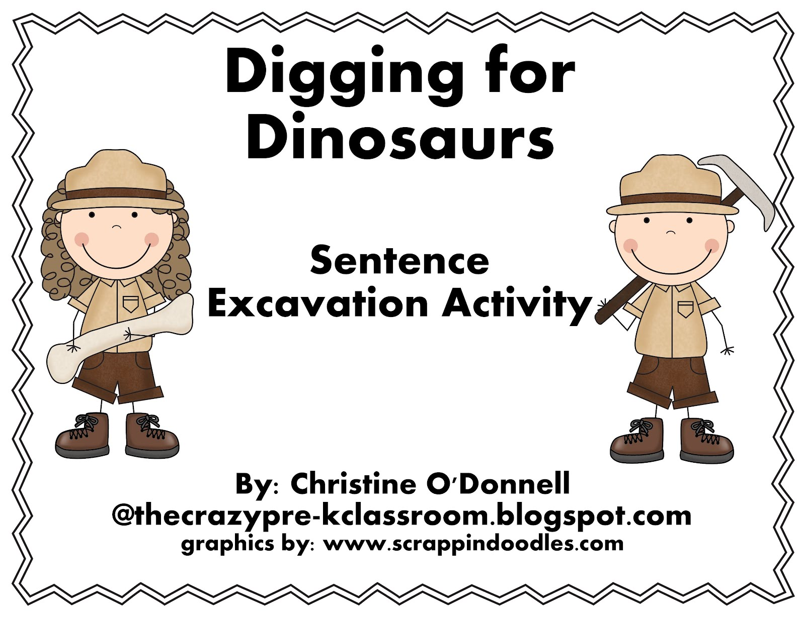 The Crazy Pre K Classroom Digging For Dinosaurs My