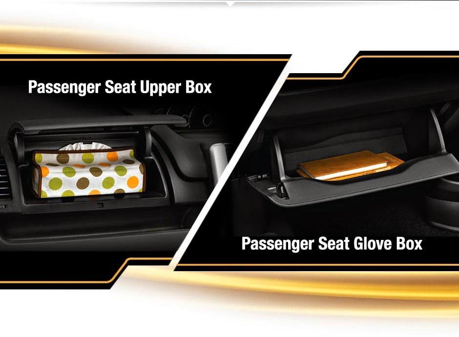 passenger seat uper box