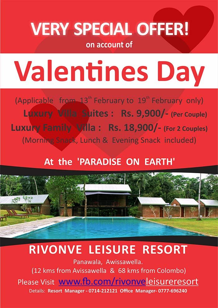 Rivonve Leisure Resort is located 70 kms from Colombo, on newly carpeted Avissawella – Panawala Road, just 1 km from Panawala Junction. The beautifully landscaped 3 ½ Acre Resort Site, is in the midst of a Tea Estate and is surrounded by the gorgeous natural Stream, Gommala Oya, which forms the Boundary of the Site.