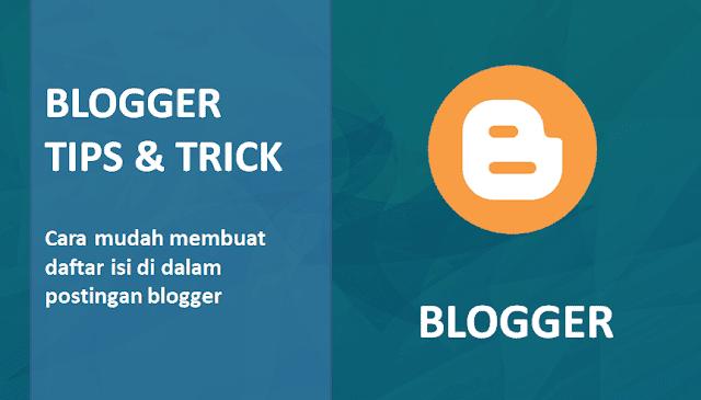 Cara Membuat Daftar isi di Postingan Blog