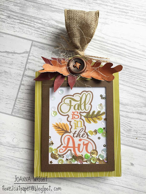 'Fall is in the Air' Shaker Tag - Pazzles Design Team project
