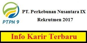 Karir PT. Perkebunan Nusantara IX