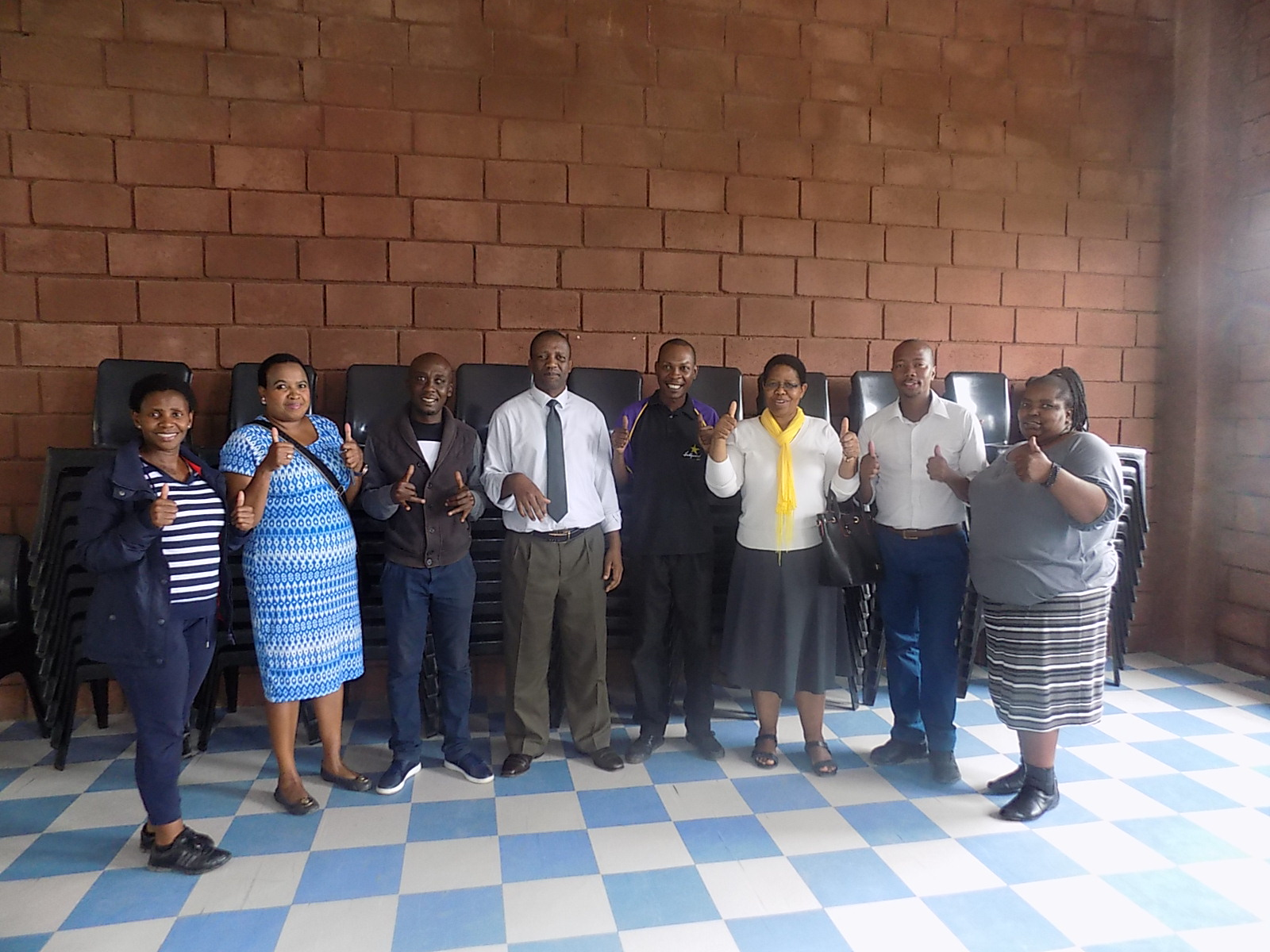 A donation of chairs from Hollywoodbets Mthatha puts a smile on teachers' faces at Mbuqe Junior Secondary School