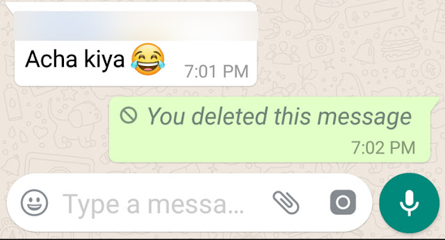 Delete For Everyone; WhatsApp
