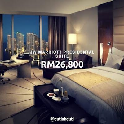 suite paling mahal di malaysia, hotel paling mahal di malaysia, berapa harga suite paling mahal di malaysia