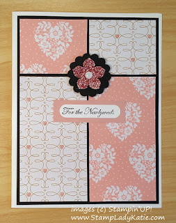 Newlywed Card featuring Love Blossom Designer Series Paper