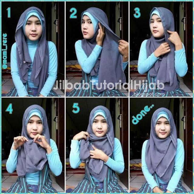 tutorial hijab segi empat untuk wajah bulat pipi tembem chubby terbaru