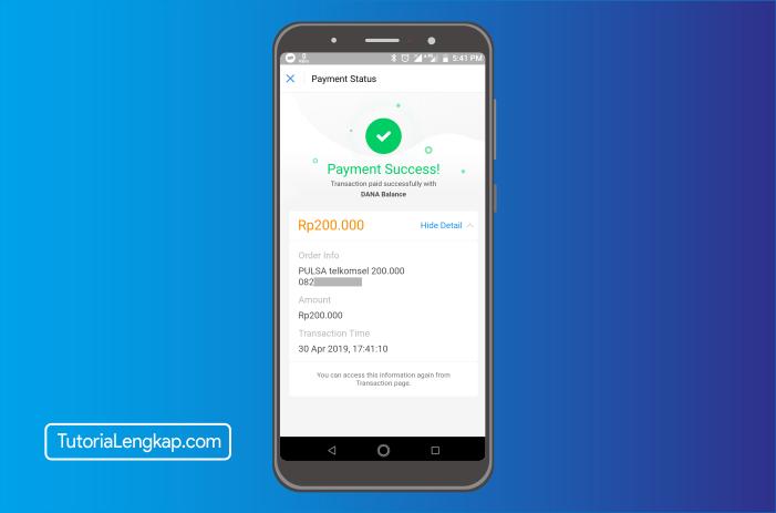 tutorialengkap 5 cara beli pulsa online melalui akun dana di hape android