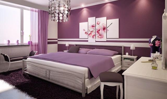 Dormitorio relajante con aroma a lavanda