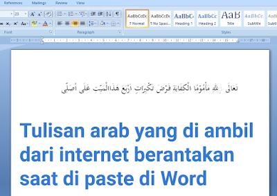 Cara Agar Tulisan Arab Tidak Berantakan Saat di Paste ke Word 1