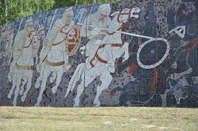 Mozaika na pomniku bitwy pod Cedynią