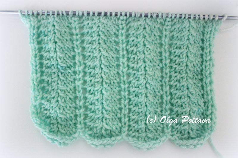 Knitting Yarn Over Slip Stitch : Bluebell Crafts: My First Knitting Attempt, Simple Knitting Stitch Pattern