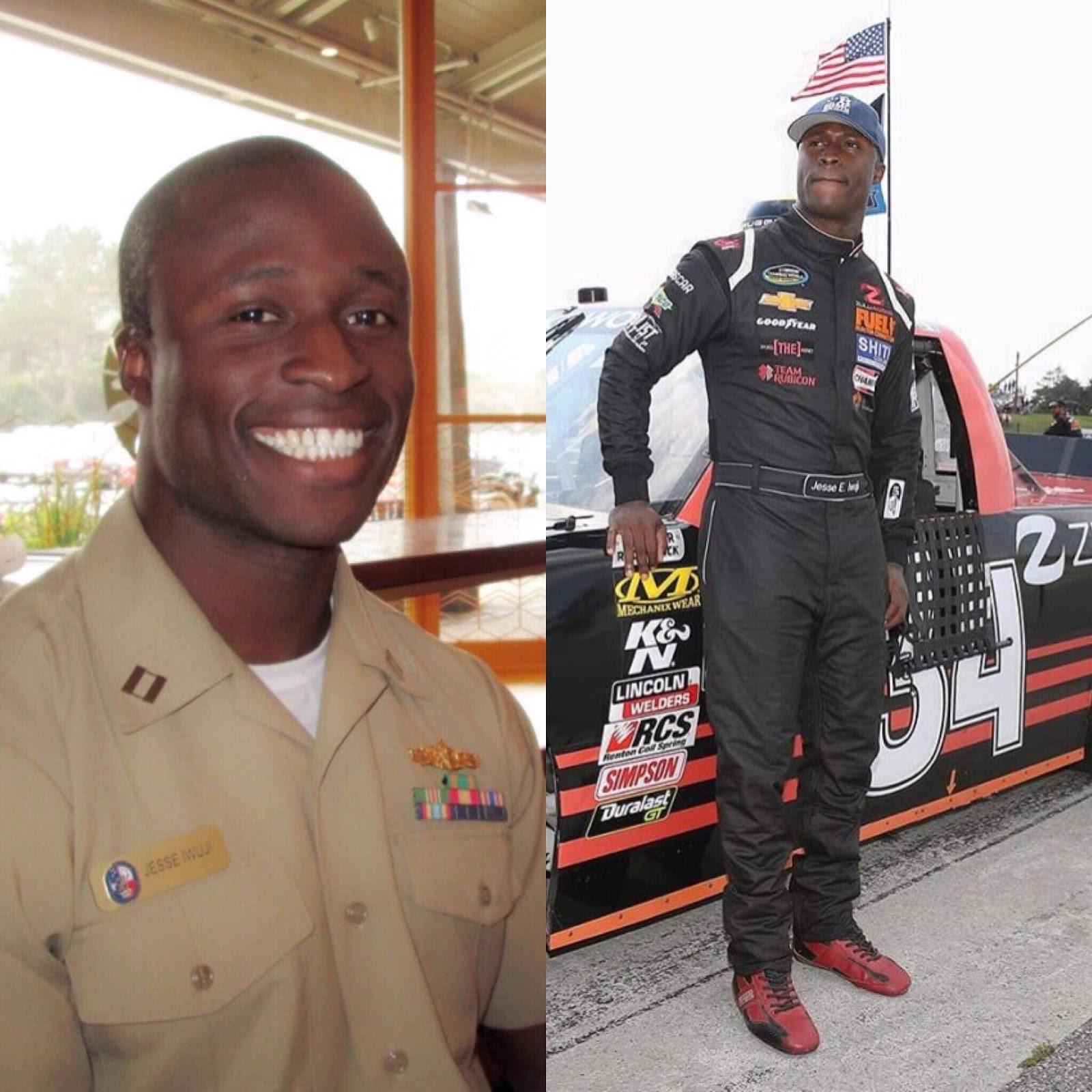 Navy Lieutenant Jesse Iwuji set for second NASCAR Camping