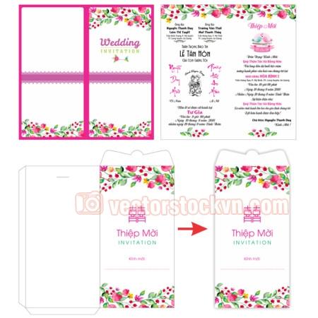 Thiệp cưới 4 màu Cao cấp cho các nhà in thiệp cưới.