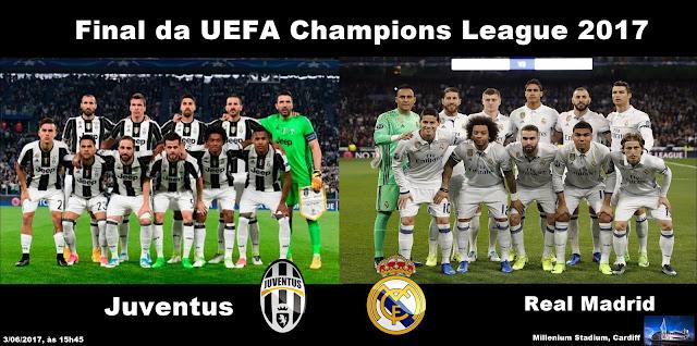 Juventus x Real Madrid - Final da Liga dos Campeões 2017 - escalacoes