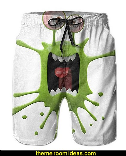 Mans Green Monster New Style Beach Pants  Gift ideas - fun novelty gift shopping ideas - gift ideas - slippers - sleep wear - personalized gifts - cool stuff to buy